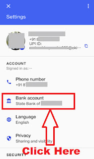 how to delete bank account in google tez upi based payment app