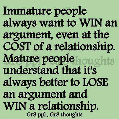 relationship and argument