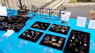 pendants, semi precious stones, woven wire, wire work