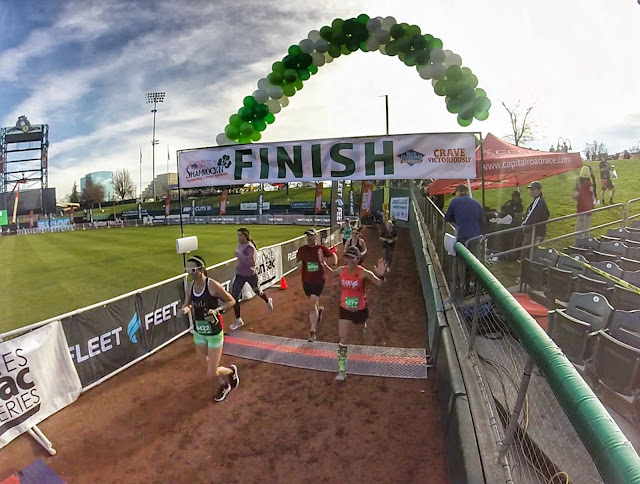 Shamrock'n finish line shot