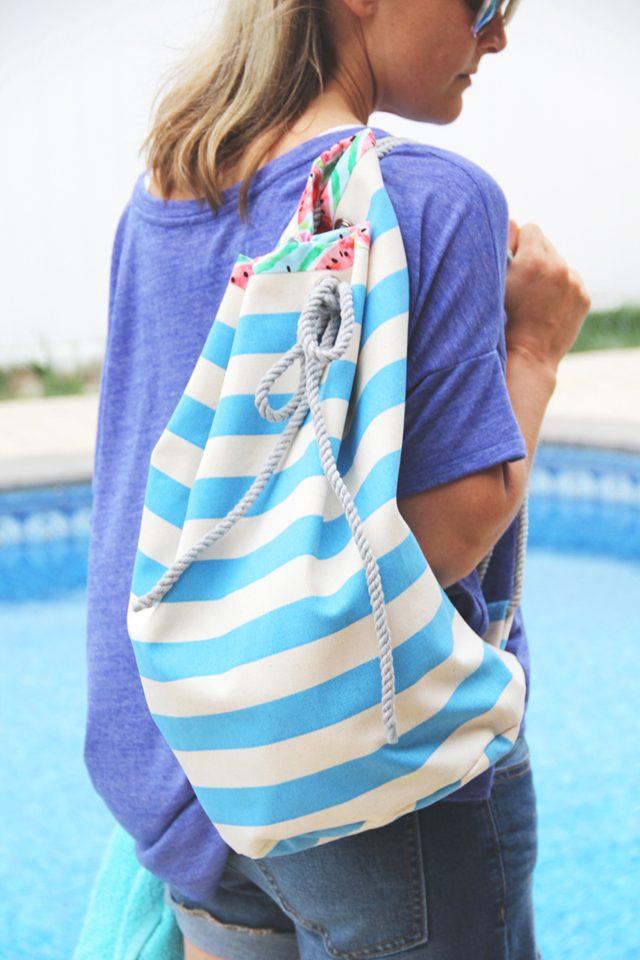 DIY plaj çantası nasıl yapılır