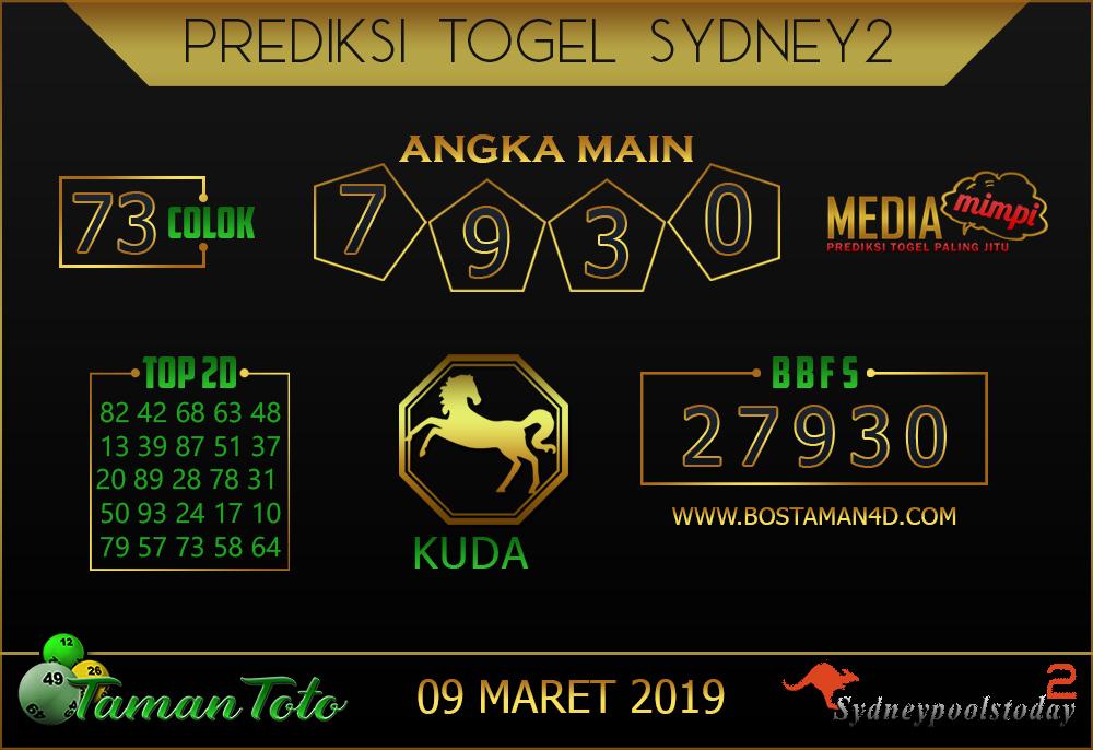 Prediksi Togel SYDNEY 2 TAMAN TOTO 09 MARET 2019