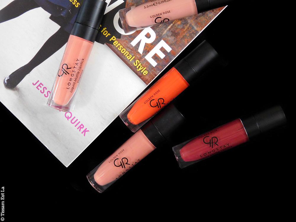 Golden Rose | Longstay Liquid Matte Lipsticks 5 New Shades Review & Swatches - Avis