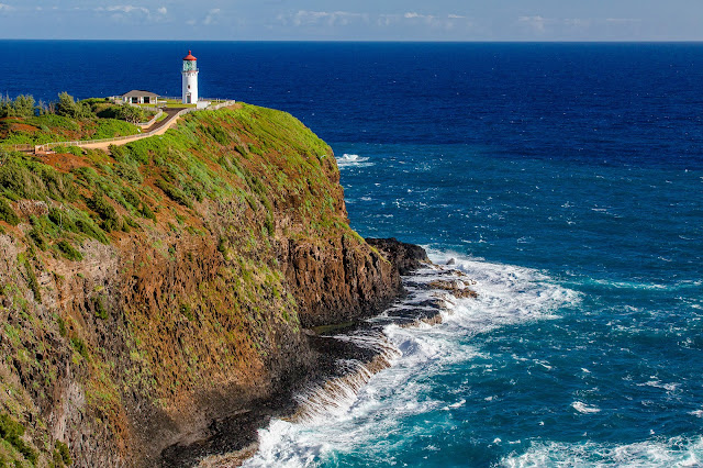 View of Kilauea Point Lighthouse on Kauai's North Shore