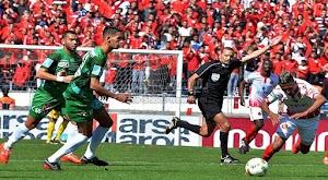 نادي الرجاء يفوز على فريق نهضة الزمامرة بهدفين لهدف في الجولة الخامسه من الدوري المغربي