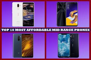 Top 10 Most Affordable Mid Range Mobile Phones under 30000 Rupees or 440$ - World Prime News