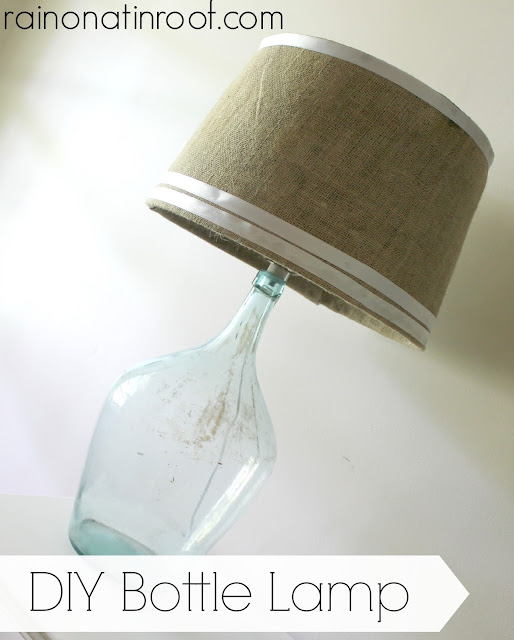 DIY Bottle Lamp {rainonatinroof.com} #bottle #lamp #DIY