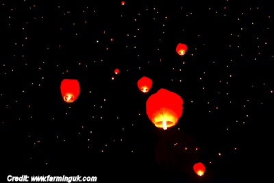 Sky Lanterns Banned By Scottish Council