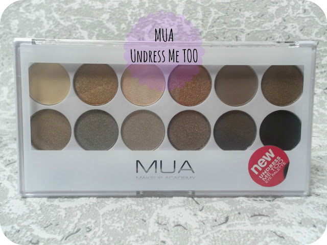 A picture of the MUA Undress Me Too Palette