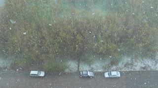 Снегопад в начале мая