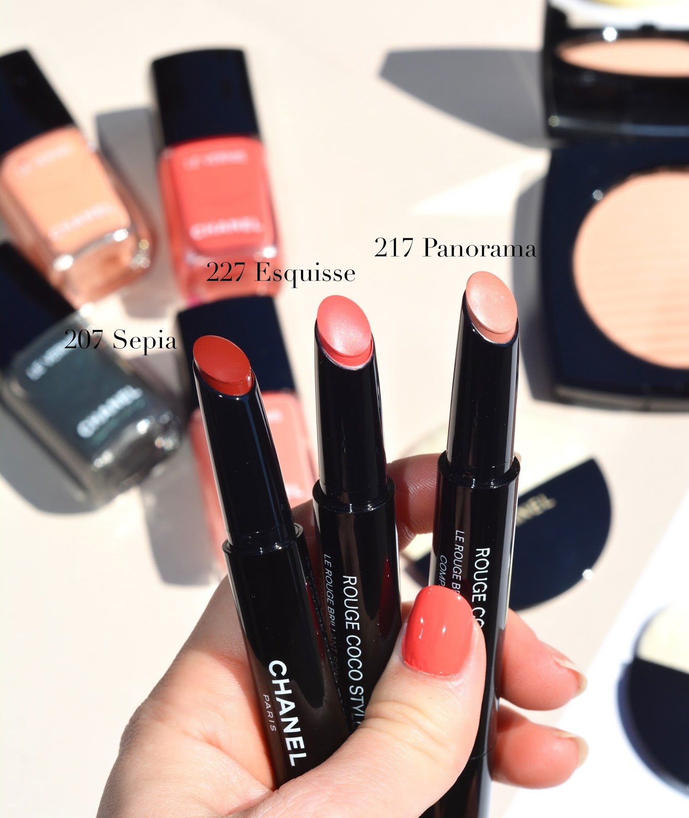 Beauty marker chanel rouge coco lipsticks review and swatches - Chanel Summer 2017 Cruise Collection Makeup Review Swatches Rouge Coco Stylo Panorama Esquisse Sepia