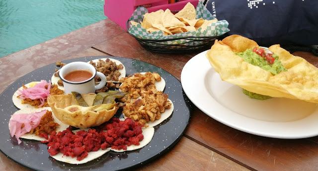 Kreuzfahrthafen Costa Maya - Abendessen mit Tacos und Guacamole