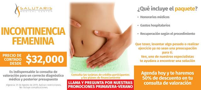 Paquete Cirugias Incontinencia Femenina Precio Guadalajara Mexico