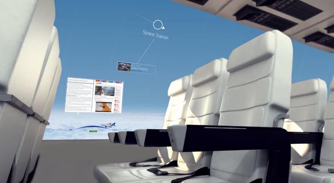Gli aerei senza finestre daranno ai passeggeri una vista panoramica del cielo.