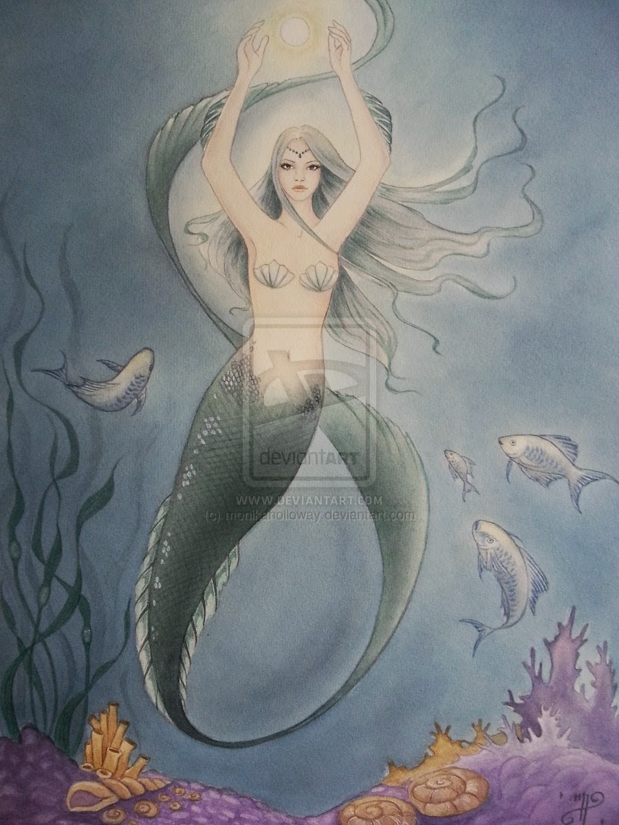 Secrets of The Deep Sea by Enchanted Visions Artist Monika Holloway