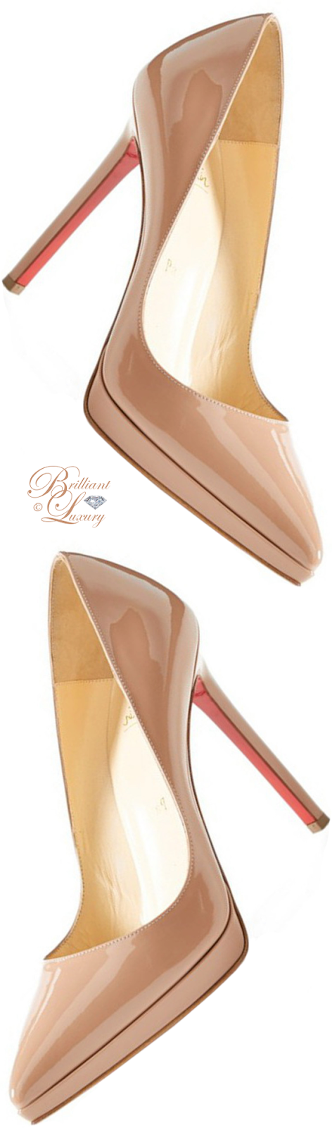 Brilliant Luxury ♦ Christian Louboutin Pigalle platform pump