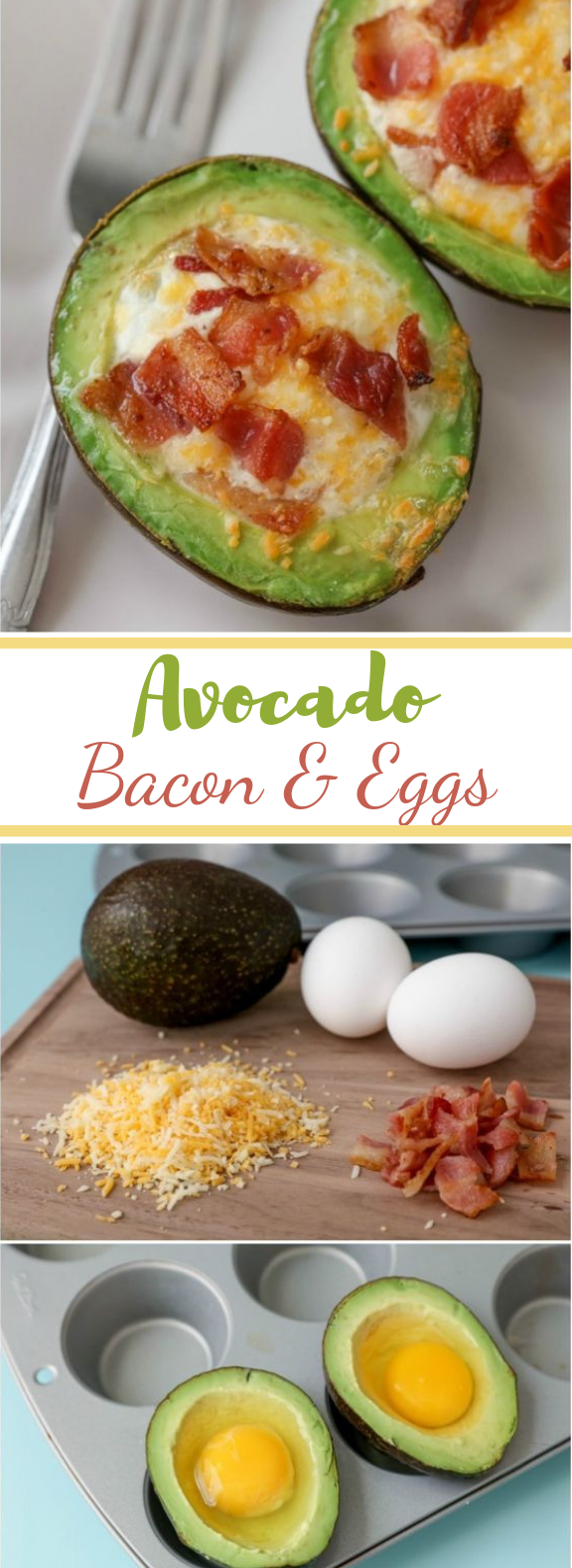 Avocado Bacon and Eggs #healthy #breakfast