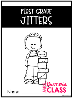 First Grade Jitters book study companion activities to go with the story by Robert Quackenbush. A perfect back to school story for those who are a little nervous about starting First Grade.