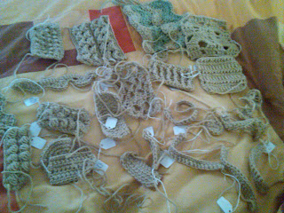 A Sunny Craft Room Master Crochet Samples In Progress