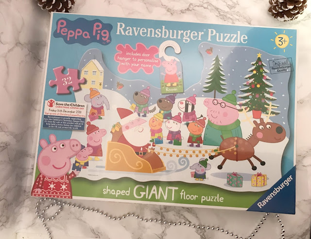 giant peppa pig floor puzzle in box