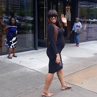 Linda Ikeji baby bump photos