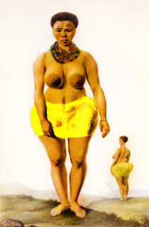Born in 1789 and died in 1815, no photographs of Sarah Baartman, the Hottentot Venus exits, only drawings.