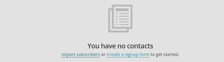 create signup form in mailchimp