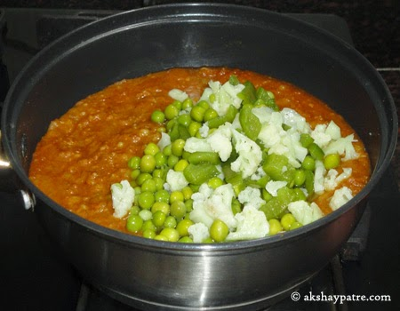 boiled vegetables added