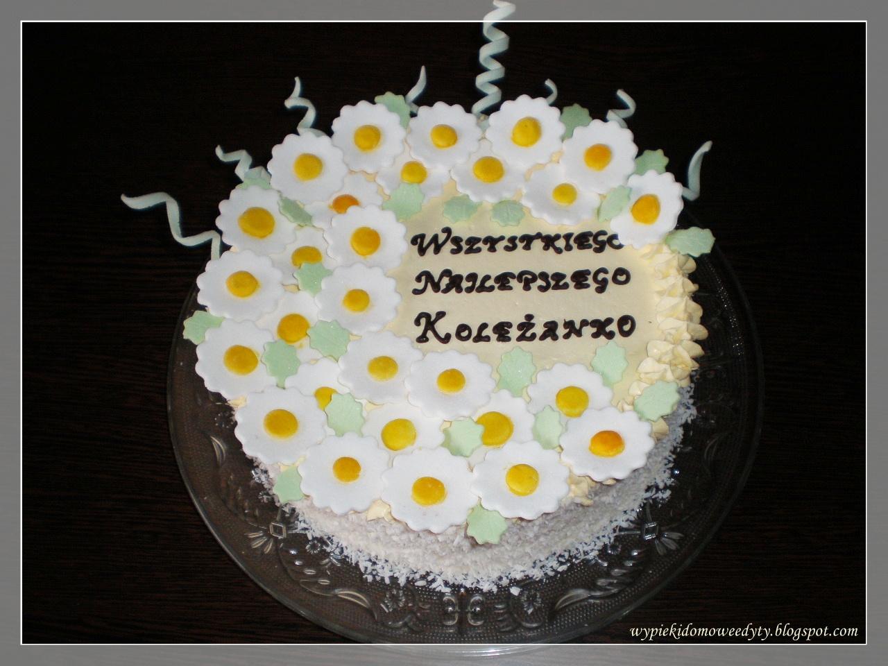 Moje Domowe Wypieki Tort Urodzinowy Z Alkoholem