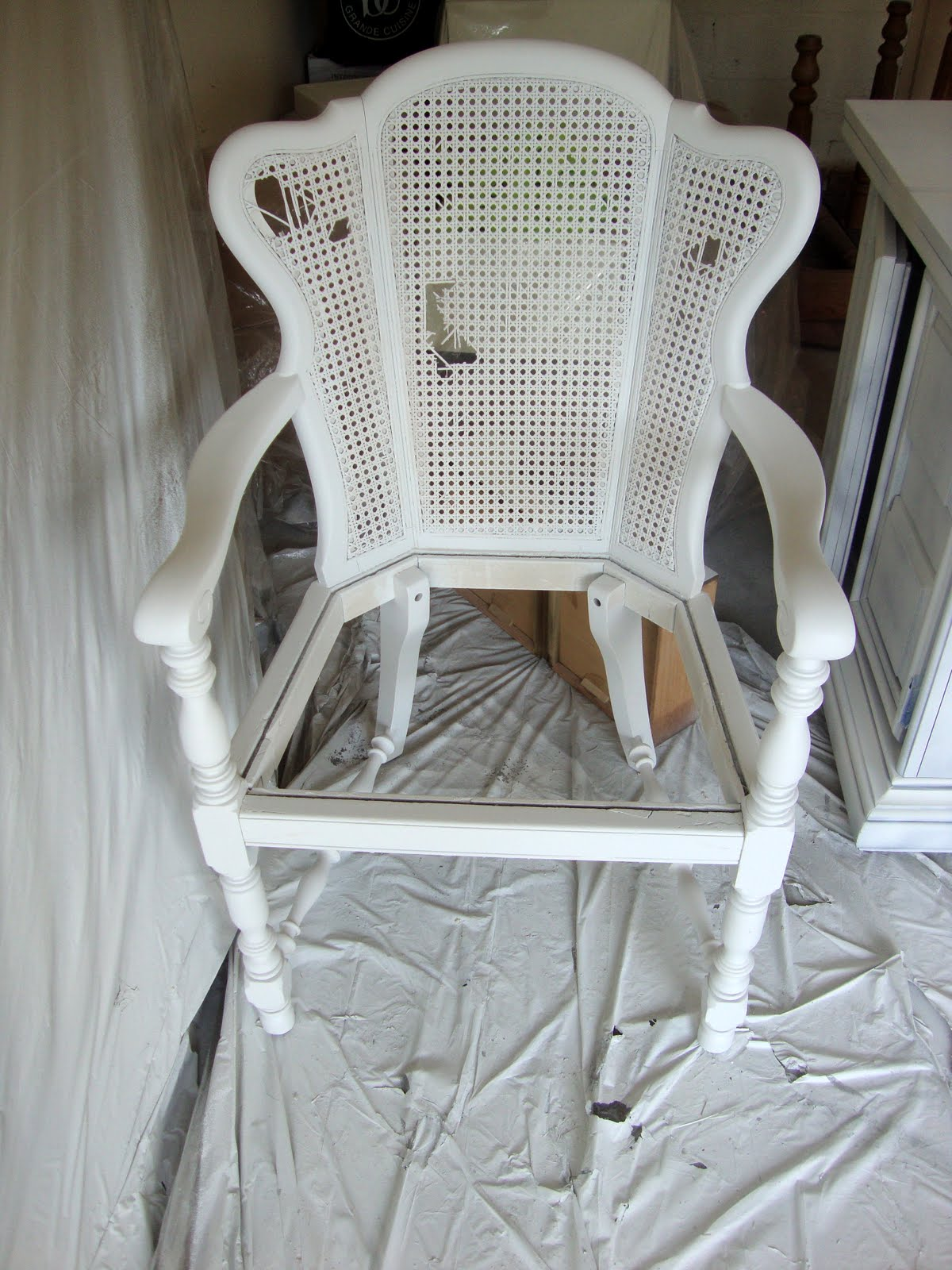 How To Replace Cane Back Chair With Fabric Covers Wedding Bournemouth Sugar And Spackle Before After Diy Upholstered