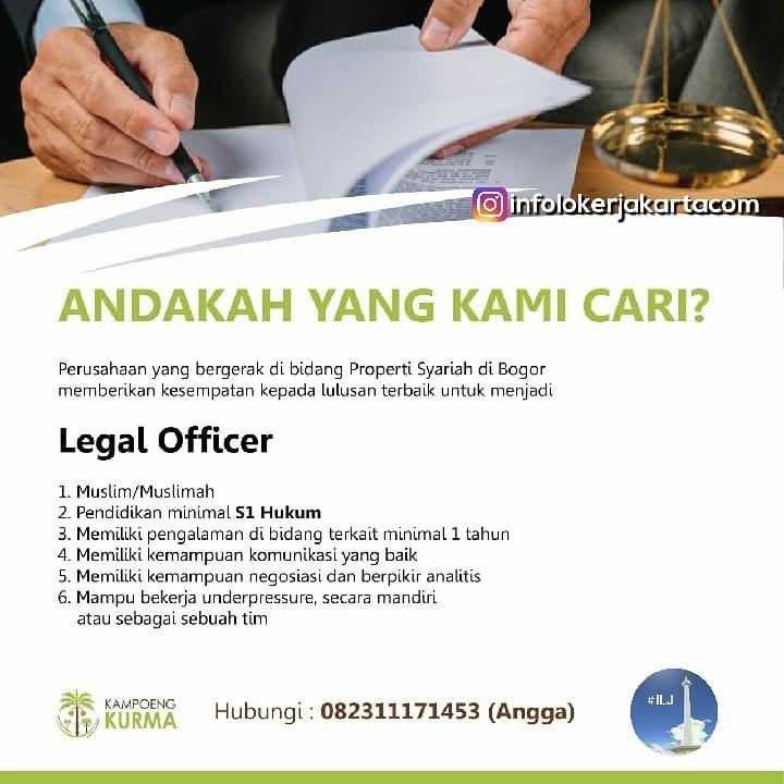 Loowngan Kerja Legal Officer Kampoeng Kurma Bogor Februari 2019