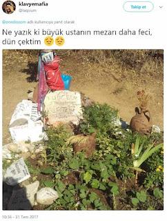 Tuncel Kurtiz'in mezarı