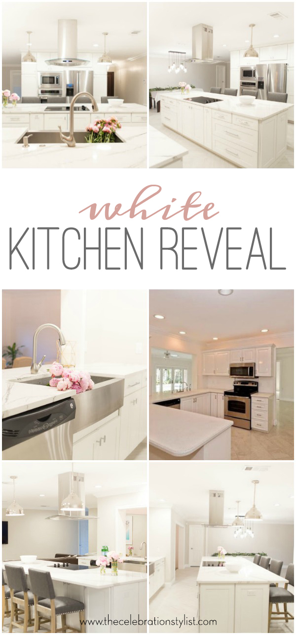 White Kitchen Ideas by popular blogger Celebration Stylist