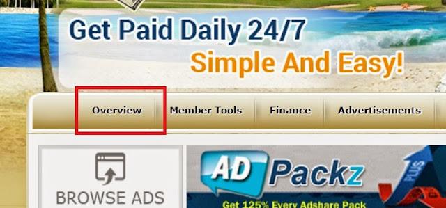 Xem thông tin tài khoản Clickadpays