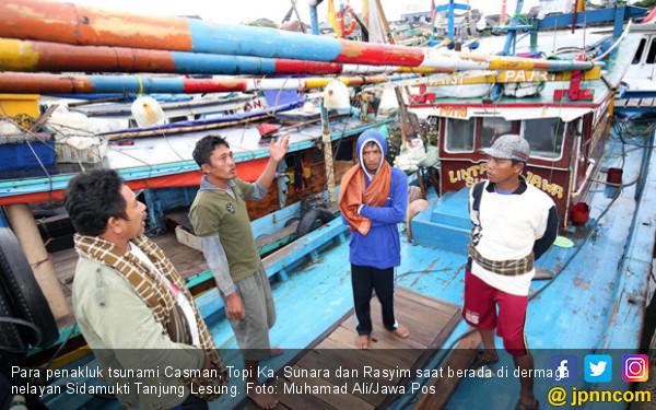 Menerjang Tsunami, Kapal Rasyim Mendaki Sampai Tegak Berdiri