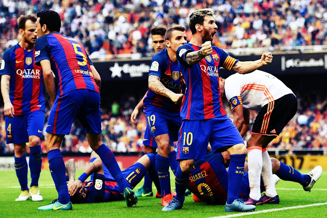 Full Match Highlights of Barca's 3-2 victory against Valencia