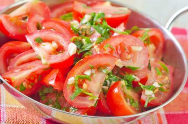 طريقة الطماطم المتبلة