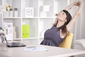 try to perform little exercise at work regularly
