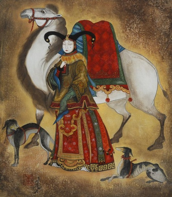 Монгольский художник. Заясайхан Самбуу 4