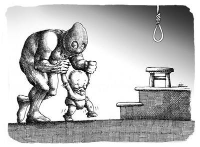 Iran: A corrupt theocracy, a medieval justice system.
