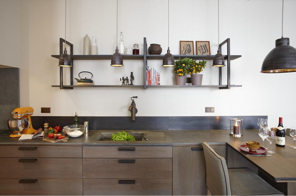 estantes de cocina ideales para aportar estilo propio
