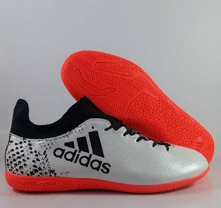 Adidas X16.3 white orange IC Sepatu Futsal Premium, harga adidas x16 futsal , jual adidas x, adidas x futsal replika, premium , import