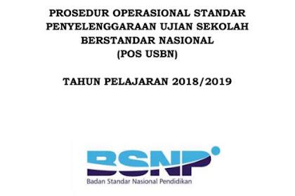 POS USBN Tahun 2018-2019 BSNP Nomor 0048/P/BSNP/XI/2018