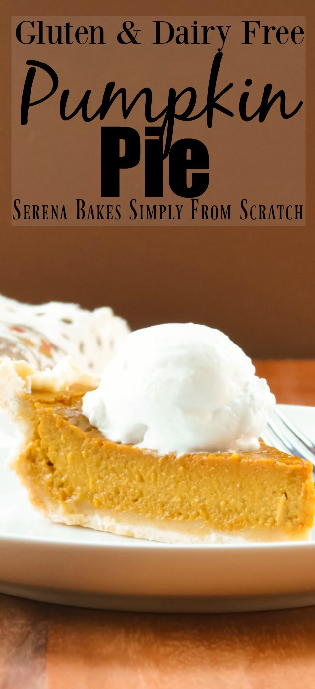 Gluten Free Dairy Free Pumpkin Pie with Coconut Whip Cream a must have for Thanksgiving!