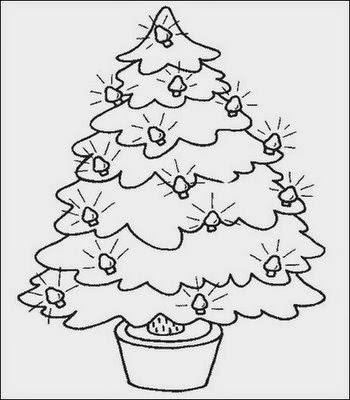 Desenhos Para Colorir E Imprimir Desenhos De Arvores De Natal