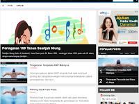 Maknyus AMP - Valid AMP HTML Blogger Templates