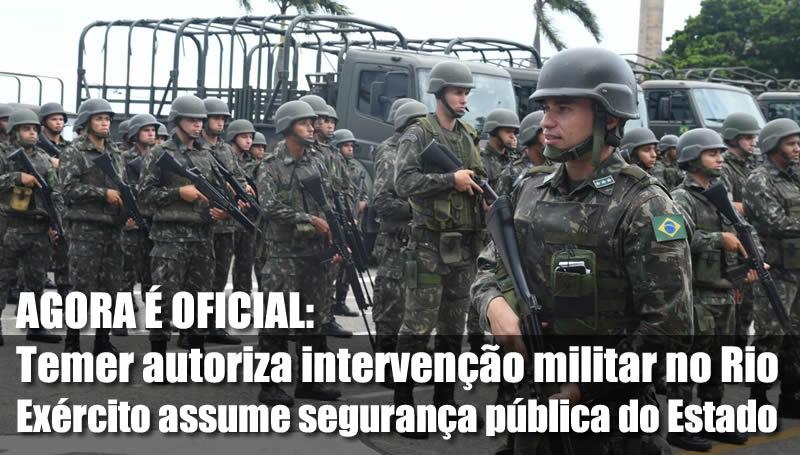 Resultado de imagem para intervenção militar no rio de janeiro