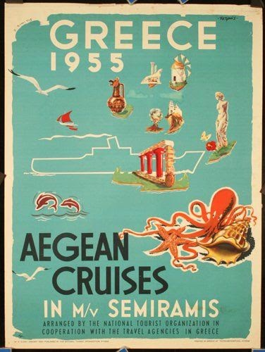 Aegean Cruises in 1955