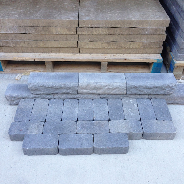 walkway mock up stone paver
