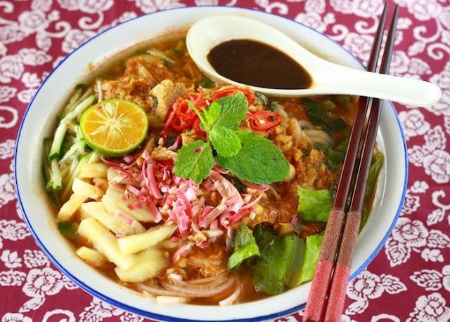 Mì Penang Asam laksa - Món Ăn Cay Malaysia